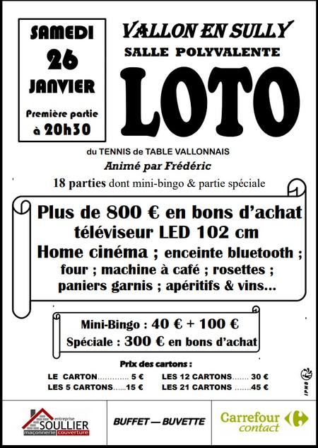 190126 loto tennis table