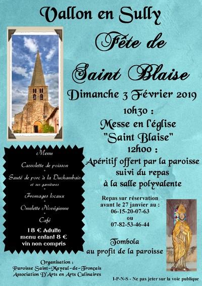 Afffiche saint blaise 1